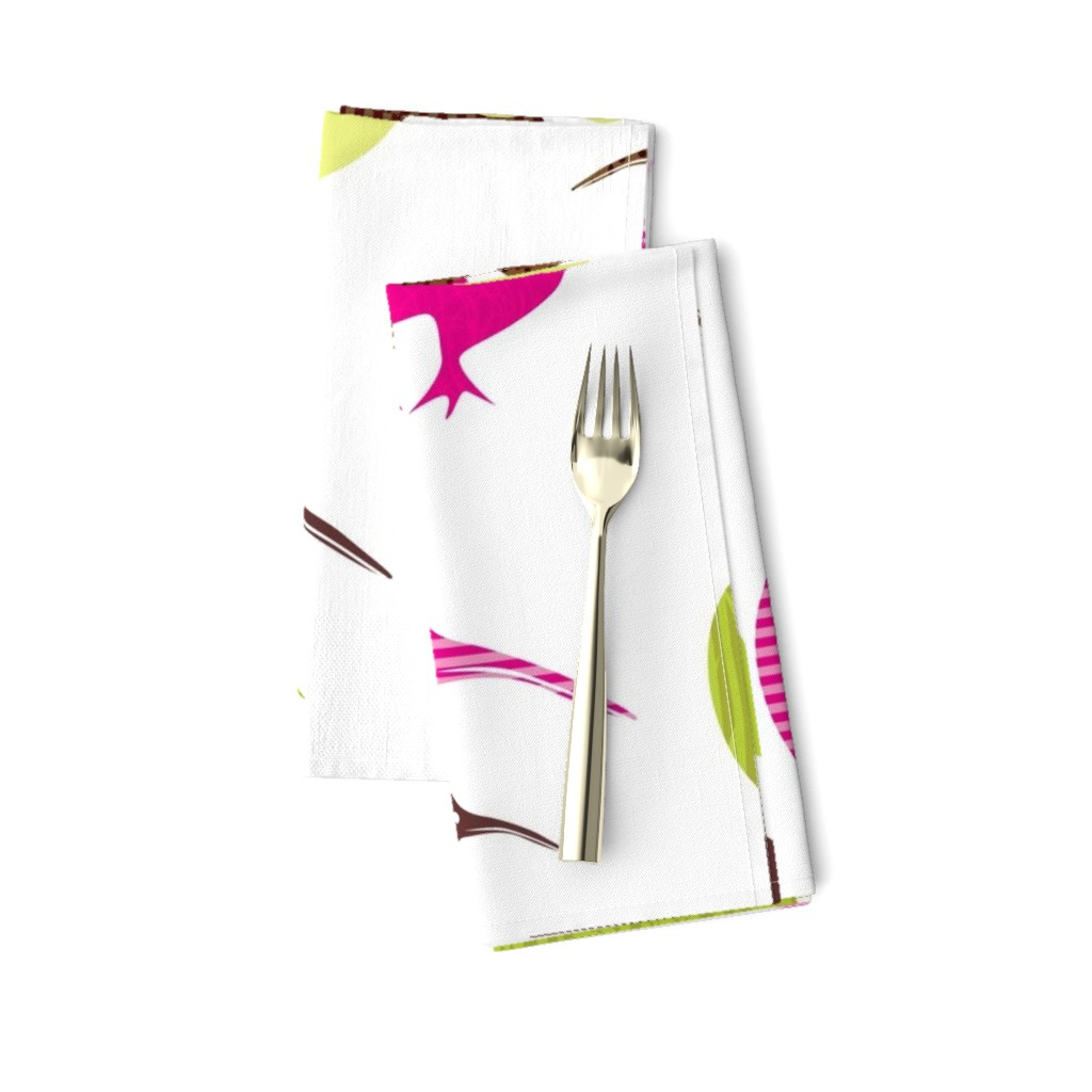 Amarela Dinner Napkins featuring Kiwi mama and baby by malien00