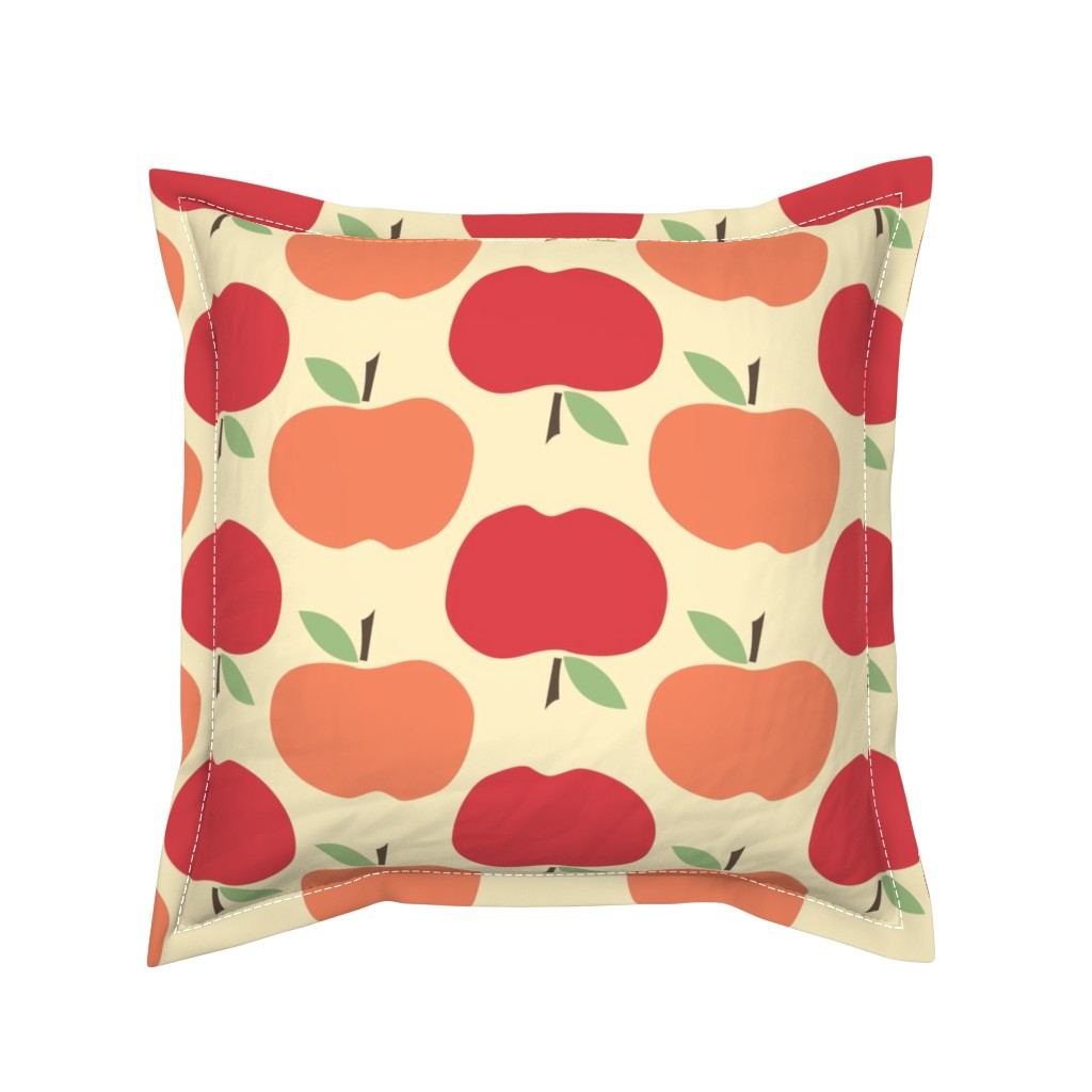 Serama Throw Pillow featuring Apples by natalie