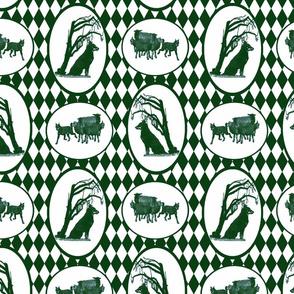 Beauceron Toile - green