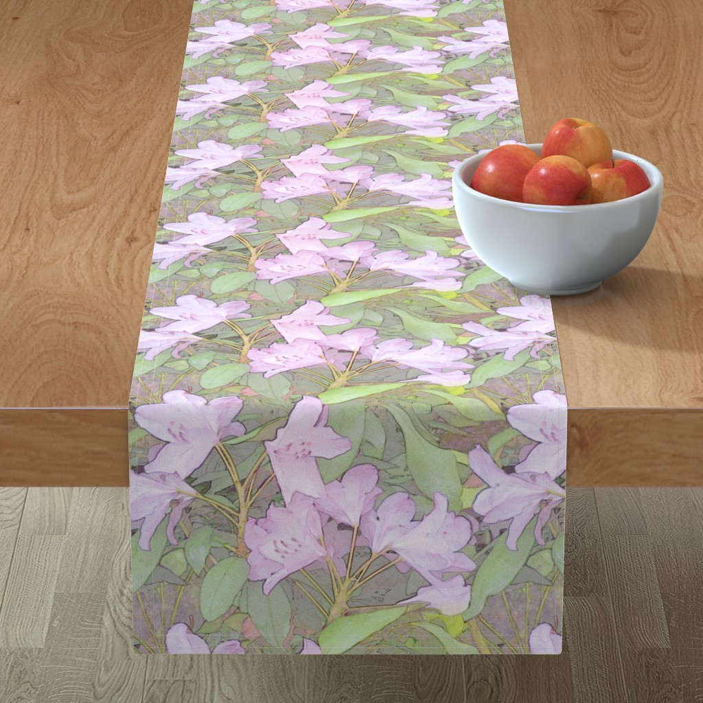 Minorca Table Runner featuring Pastel Rhododendron by wren_leyland