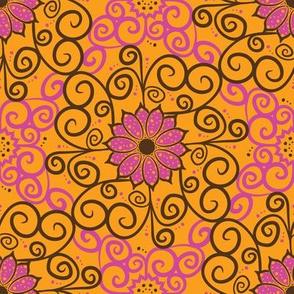 Samba Flowers Damask (Light)