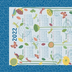 Life in the Lotus Pond 2018 Tea Towel (linen-cotton)