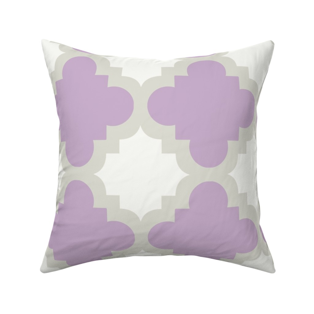 Catalan Throw Pillow featuring burst lavender white by mytinystar