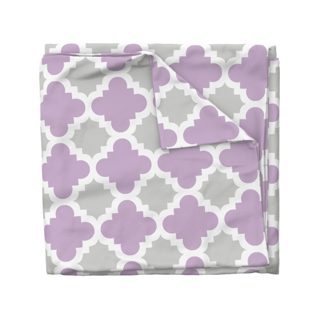 Wyandotte Duvet Cover featuring burst lavender and grey by mytinystar