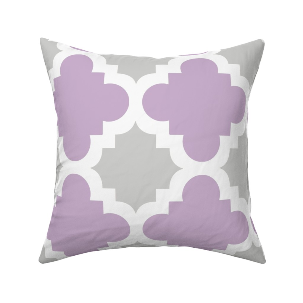 Catalan Throw Pillow featuring burst lavender and grey by mytinystar