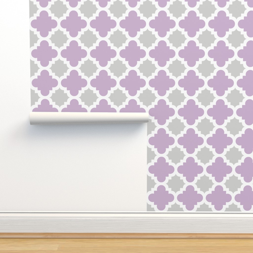 Isobar Durable Wallpaper featuring burst lavender and grey by mytinystar