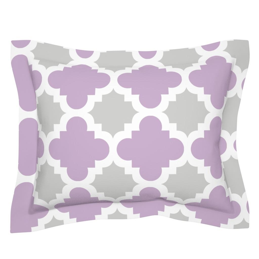 Sebright Pillow Sham featuring burst lavender and grey by mytinystar