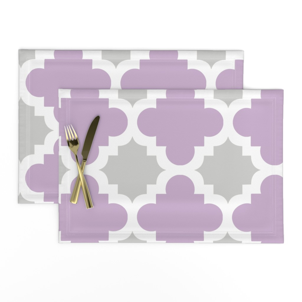 Lamona Cloth Placemats featuring burst lavender and grey by mytinystar