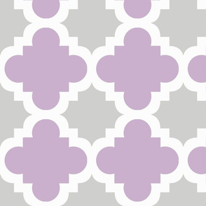 burst lavender and grey