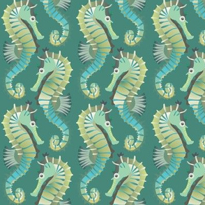 Seahorses on parade (jade)