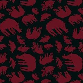 Scythian Boars in earthy red