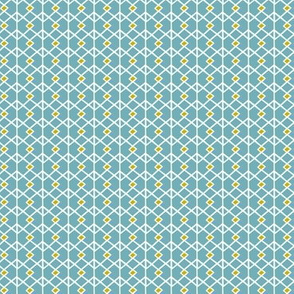 Annika Diamond - Geometric Blue