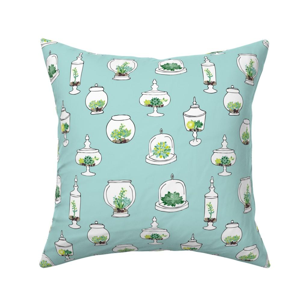 Catalan Throw Pillow featuring Little Terrariums by emilyannstudio