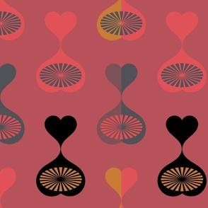 Mid Century Modern Hearts