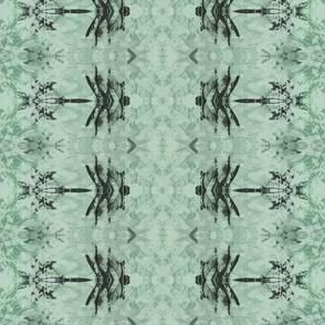 Dragonfly Batik Rows in aqua