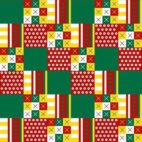 Cheater Patchwork - Christmas Brights