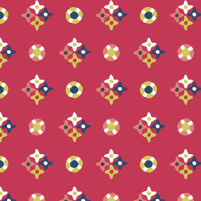 after_Matisse_floral dots red