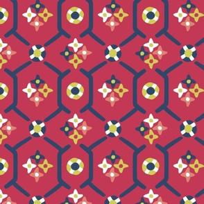 after_Matisse_floral_garden red
