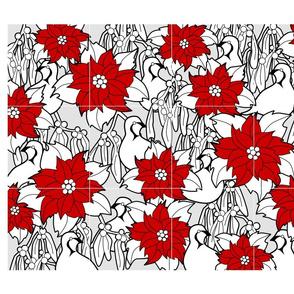 Poinsettia cocktail napkins
