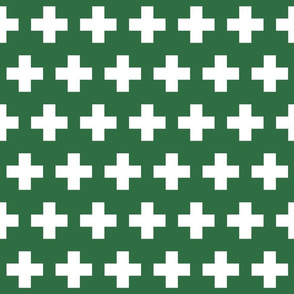 First aid - white cross on green