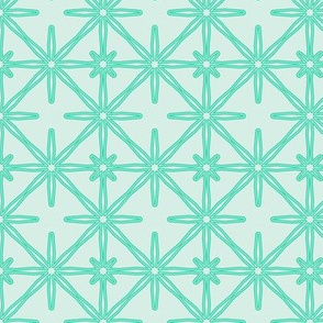 Flower Seeds in Cyan and Light Blue