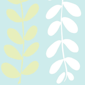 Olive Branches (lime, Lt. Aqua & white)