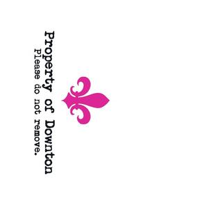 Property of Downton Tea Towel | Rose Pink