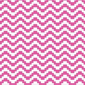 Brick Zigzag - Hot pink