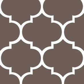 Fancy Lattice Dark Warm Grey and White