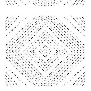 black and white geometric ornament