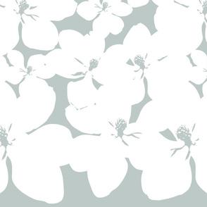 Magnolia Little Gem - Arctic - 2 Yard Panel