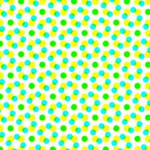 CMYK halftone dots - apple green