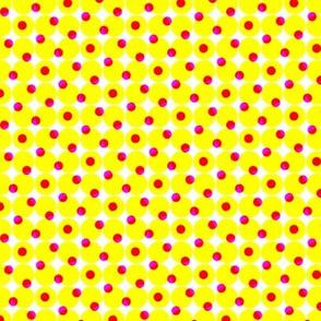 CMYK halftone dots - yellow
