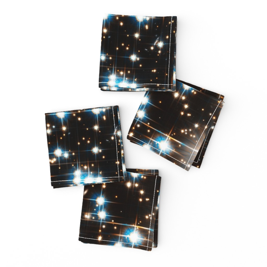 Frizzle Cocktail Napkins featuring Stars // Sparkle Star Field Dark Galaxy  by stars_and_stones