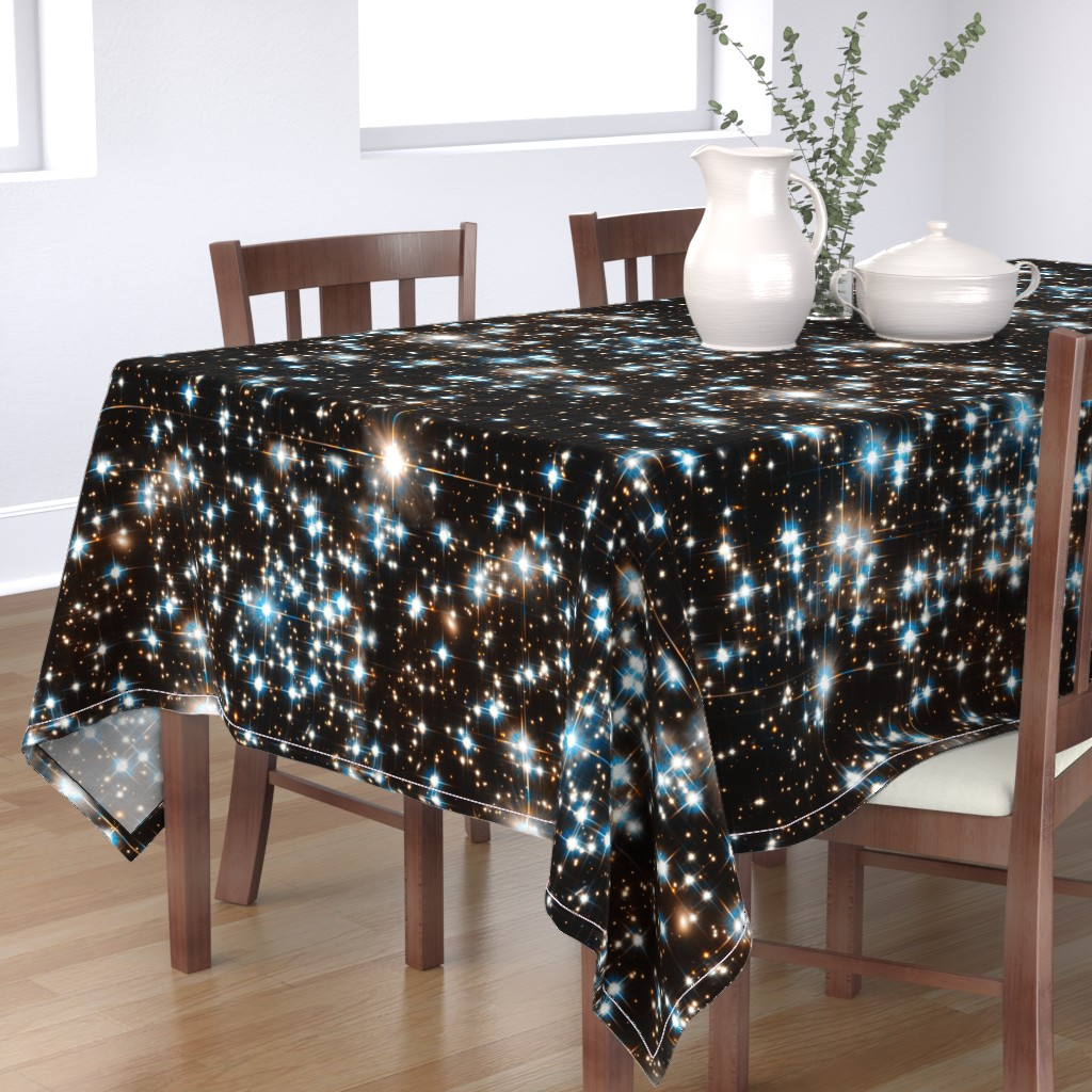 Bantam Rectangular Tablecloth featuring Stars // Sparkle Star Field Dark Galaxy  by stars_and_stones