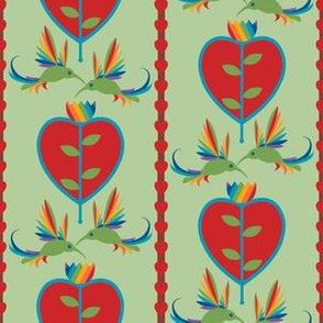 Tulips Hearts and Hummingbirds