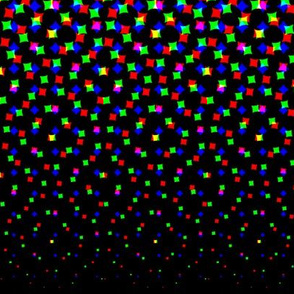 CMYK halftone gradient - black/white