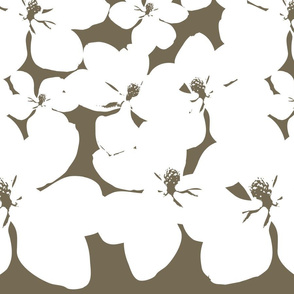 Magnolia Little Gem - Dark Spice - 2 Yard Panel