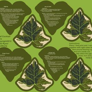 Ivy leaf Cocktail Napkins