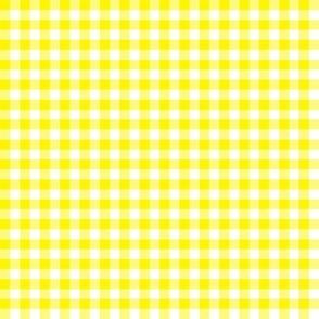 bright yellow gingham