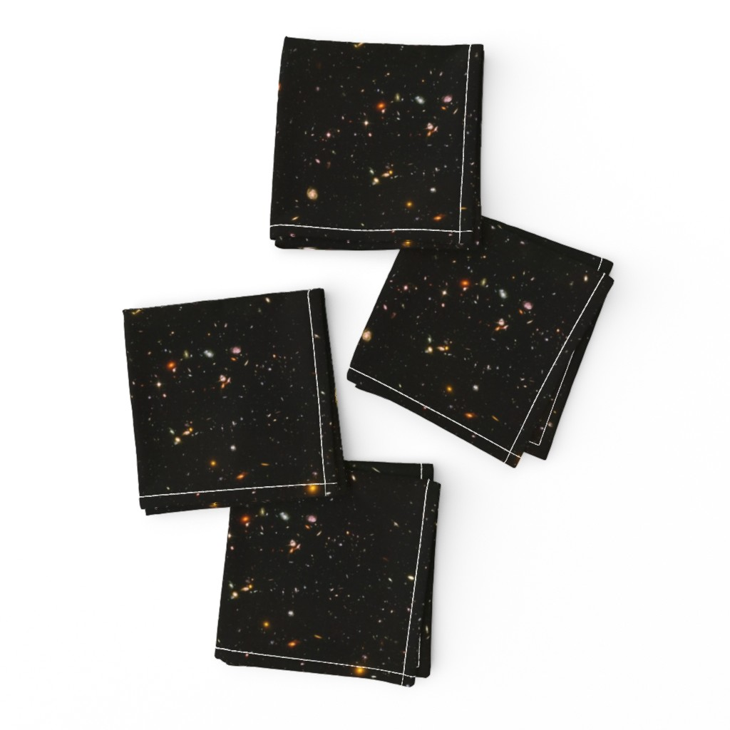 Frizzle Cocktail Napkins featuring Stars // Rainbow Star Field Dark Galaxy by stars_and_stones