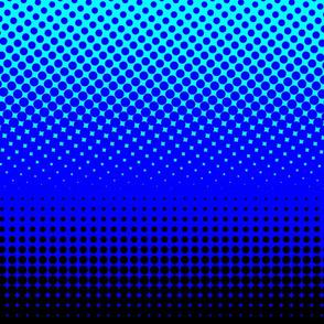CMYK halftone gradient - black/blue/cyan/white