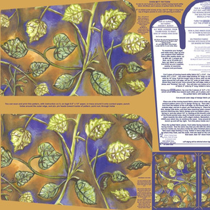 Berry Leaves Oven Mitt Pattern With Instruction Piece Pattern and Ornament Pattern on Fat Quarter by Kristie Hubler