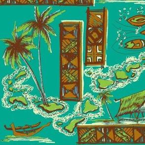 Tapa Islands in  Twilight Sea