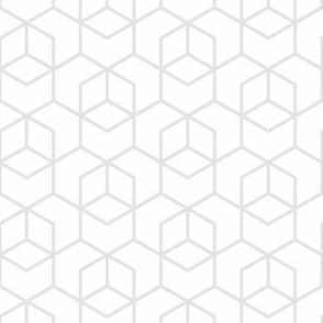 Hexagon trellis - pale grey on white