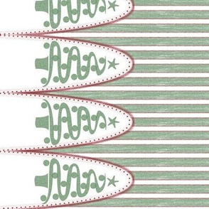 turn90 holiday tree stripe green - the ultimate tree skirt
