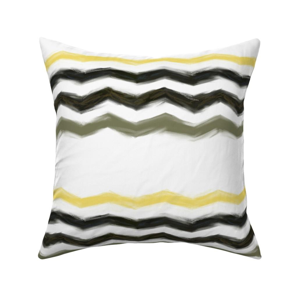 Catalan Throw Pillow featuring northern-chevron by wren_leyland