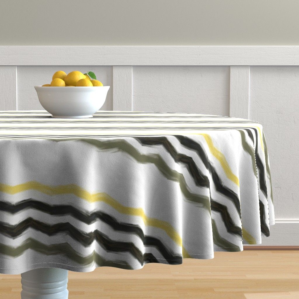 Malay Round Tablecloth featuring northern-chevron by wren_leyland