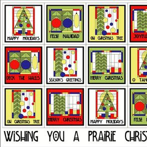 Prairie Christmas Cocktail Napkins - white