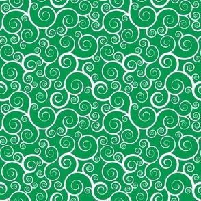 Fancy Swirls - Christmas Green